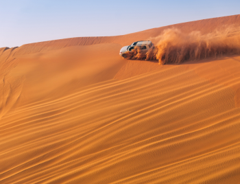 dune bashing while desert safari